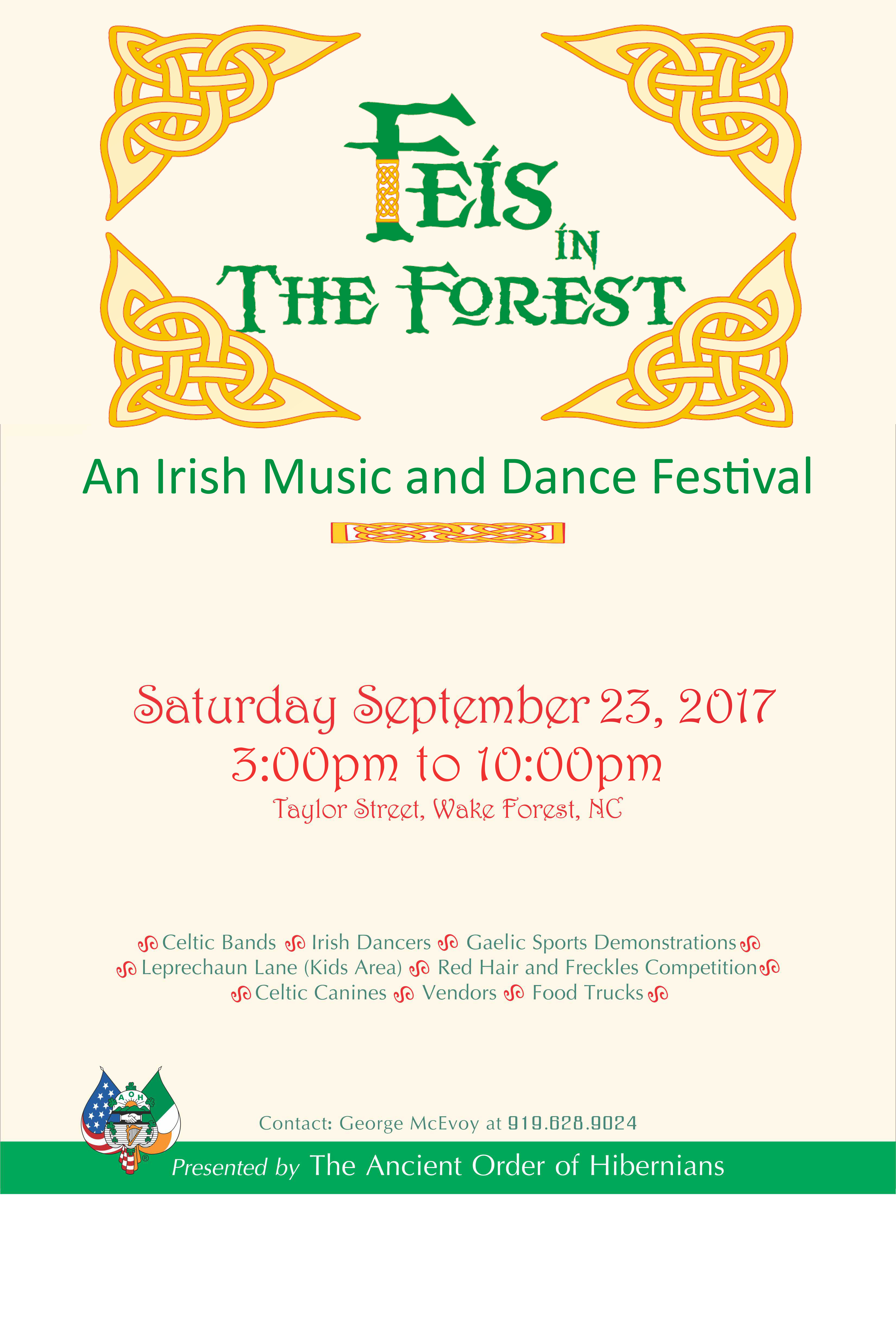 Feis in the Forest festival poster